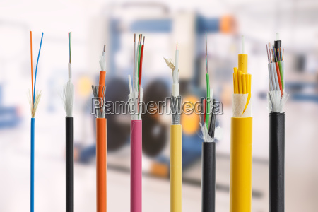 detail des faseroptischen kabels lokalisiert auf