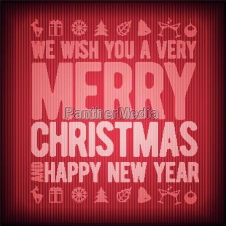 vector retro christmas greeting card design