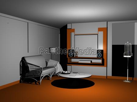 wohnzimmer innenansicht