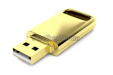 luxury golden usb stick