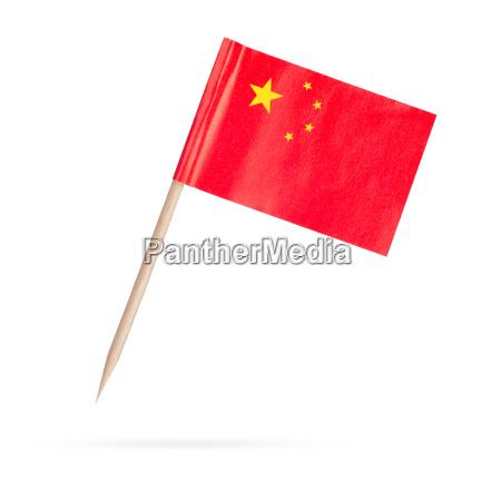 mini flagge china isoliert auf weissem