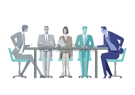 group of business people around a