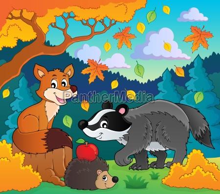 forest wildlife theme image 1
