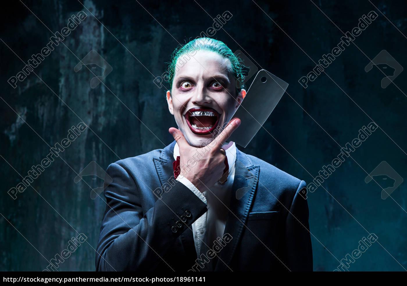 Halloween Thema.Lizenzfreies Bild 18961141 Blutige Halloween Thema Verruckt Joker Gesicht