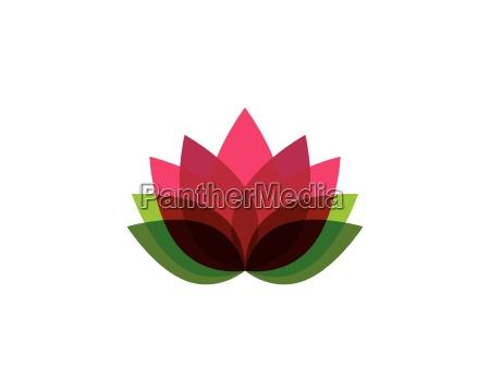 beauty vector flowers design logo template