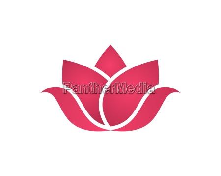 beauty vector blumen design logo template