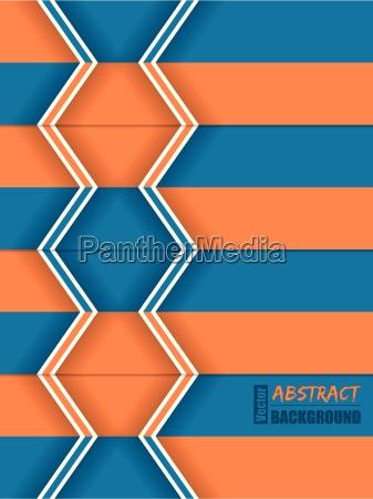 abstract orange blue arrow brochure