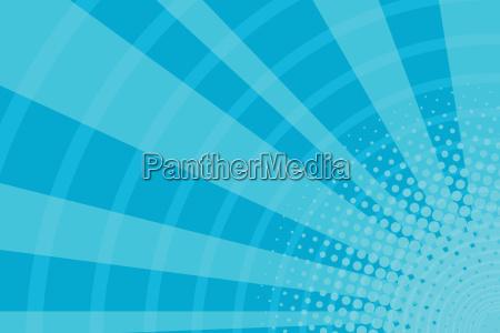 blue cartoon light rays pop art