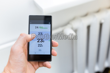 modern house heating temperature control system
