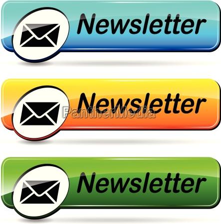 newsletter web buttons
