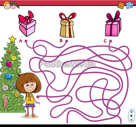 christmas path maze game