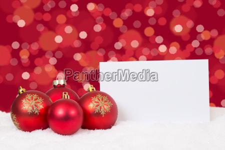 rote weihnachtskugeln weihnachten weihnachtskarte wuensche textfreiraum