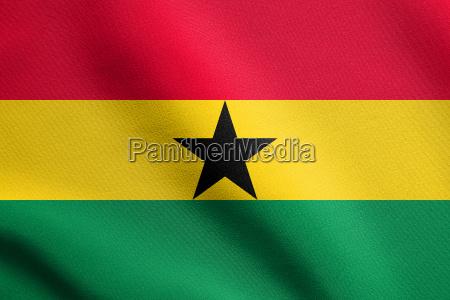 flagge von ghana winken mit stofftextur