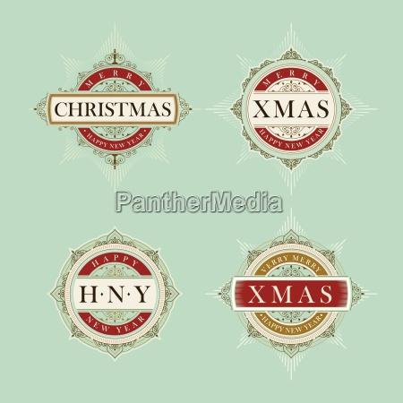 vector luxus elegant weihnachten und happy