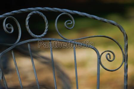 moebel closeup nahaufnahme park verzierung metall