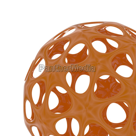 abstract orange sphere 3d image
