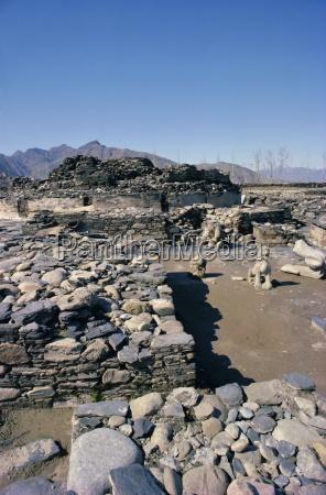 butkara ruinenswat talnorth west frontier provincepakistanasien