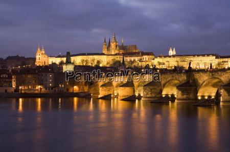 st vitus cathedral charles bridge and