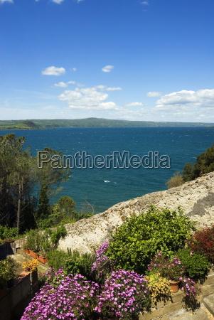 lake of bolsena view from capodimonte