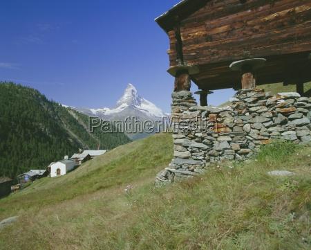 the matterhorn mountain 4478m from findeln