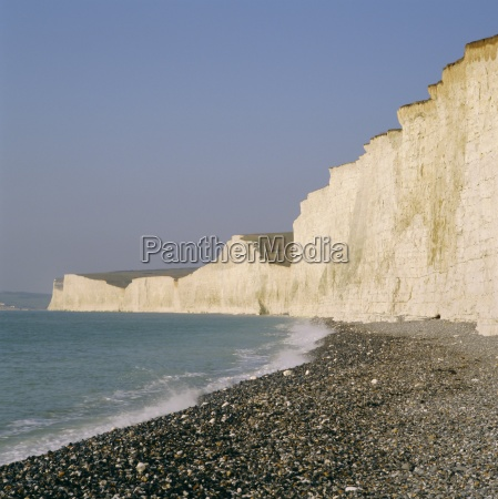 the seven sisters chalk cliffs seen