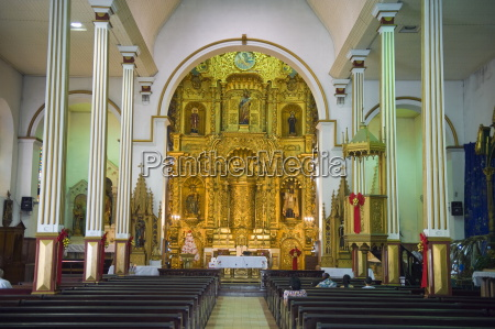 gold altar in the church of
