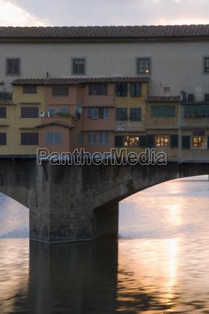 the ponte vecchio and the river
