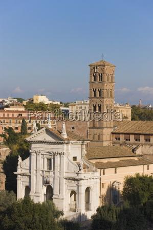 facade and campanile of santa francesca