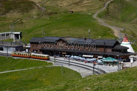 railway station kleine scheidegg bernese oberland