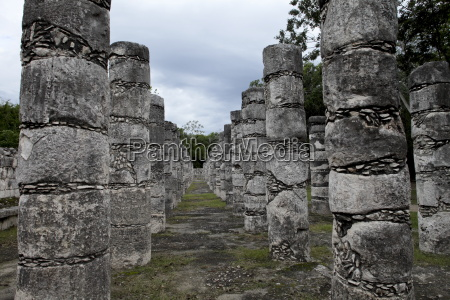 columns in the temple of a