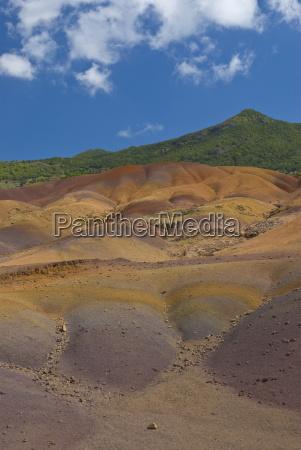 chamarel farbige erden mauritius indischer ozean