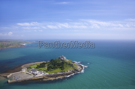 aerial view of st michaels mount