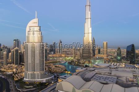the burj khalifa elevated view looking