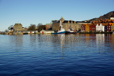 view on the harbour and the