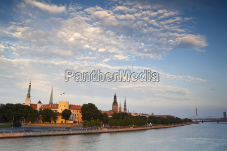riga castle and the river daugava