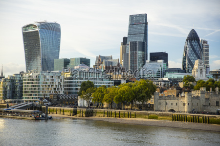city of london skyline london england