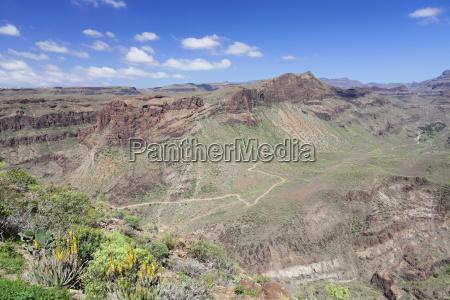 view from mirador de fataga to