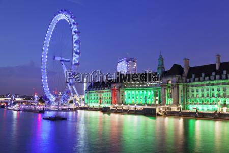 millennium wheel london eye old county