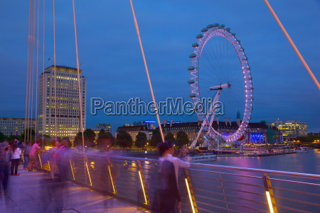 river thames and london eye from