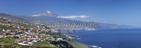 view over orotava valley to the