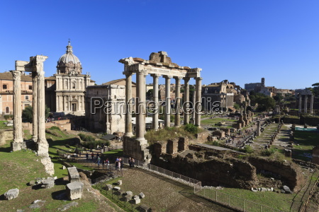 elevated view of the columns of