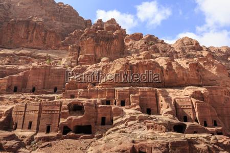 tombs street of facades petra unesco