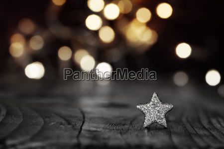 silver star on festive background