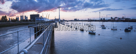 river thames at sunset and the