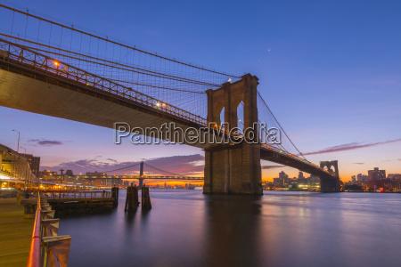 brooklyn bridge and manhattan bridge beyond