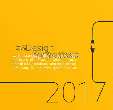 new year 2017 plug and socket