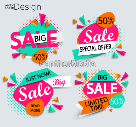 sale set of bright modern