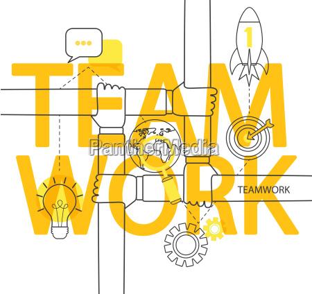 teamwork concept infographic