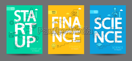 infographics of start up science finance