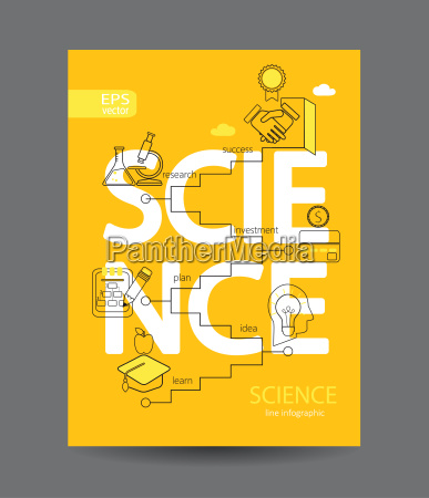 infographic of science concept